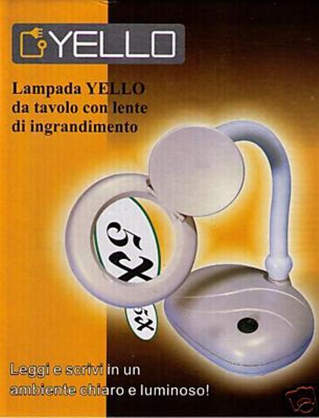 Lampada yello lampade da tavolo con lente di ingrandimento - Specchio con lente di ingrandimento ...