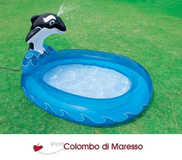 Piscina piscine orca 203x157x107 per da bambini bambino for Piscine gonfiabili per bambini