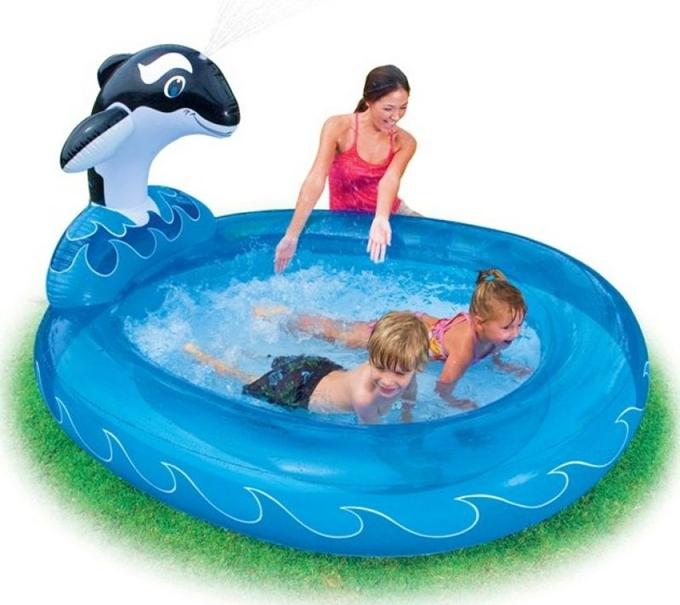 Piscina piscine orca 203x157x107 per da bambini bambino intex 57436 gonfiabile ebay - Piscine x bambini ...