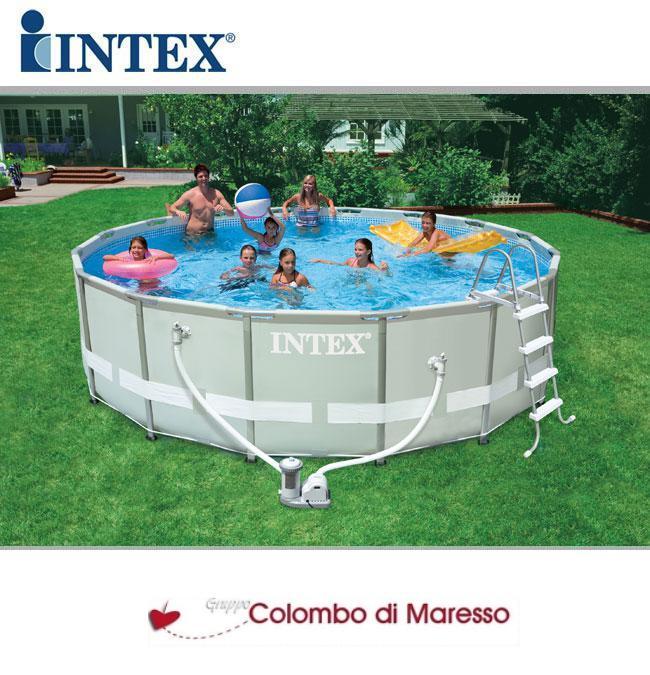 Piscina piscine fuori terra ultraframe tonda con pompa 488 x 122 intex 54452 ebay - Piscina intex tonda ...