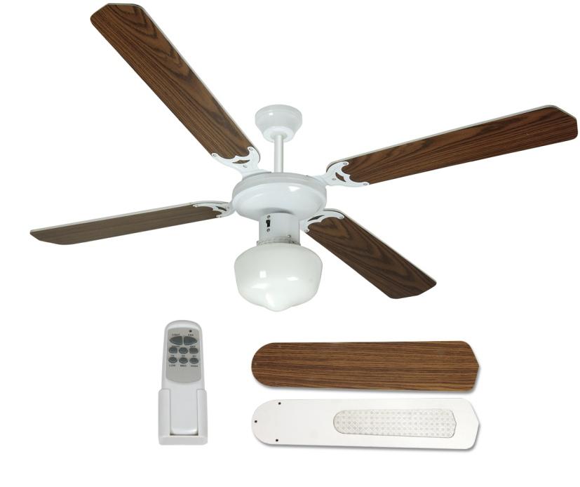 Ventilatore da soffitto 4 pale johnson medina con for Ventilatore con telecomando
