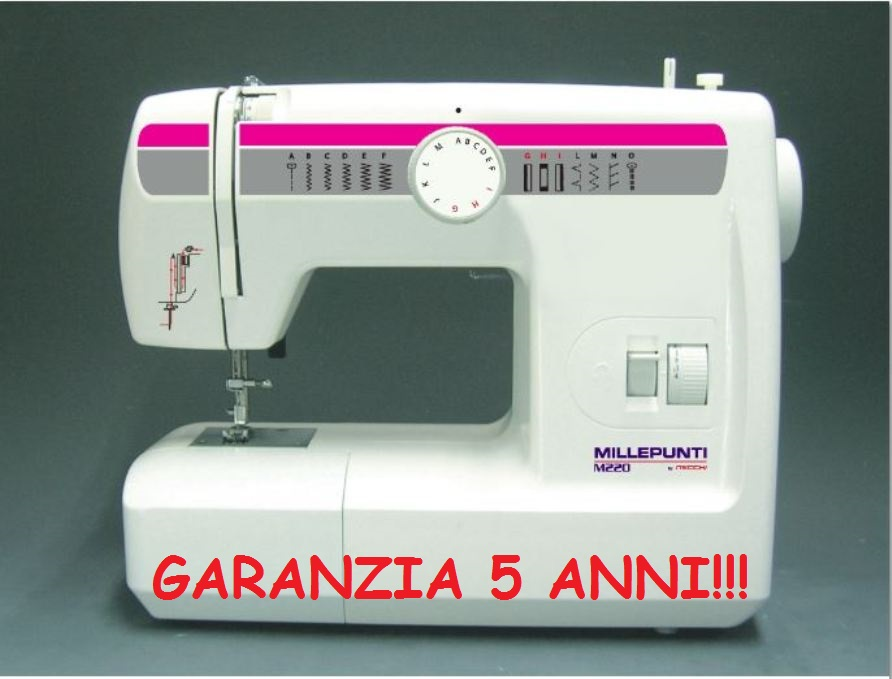 Macchina macchine da cucire millepunti necchi m220 jeans for Macchina cucire offerta