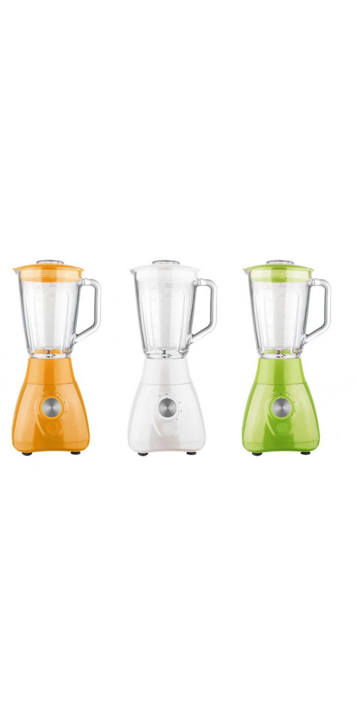 Frullatore con bicchiere in vetro DCG UM1350 verde, bianco o arancione