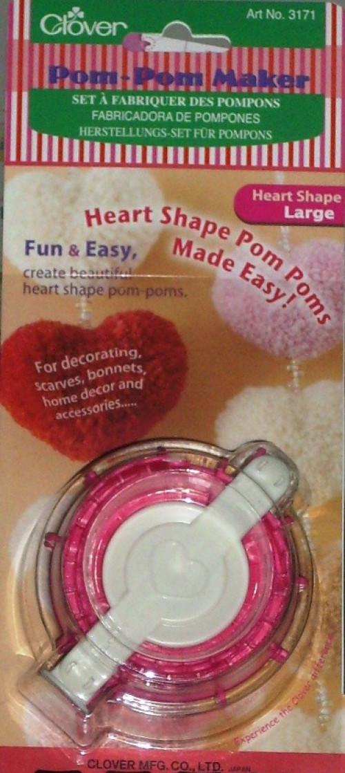 Dispositivo crea pom pom a forma di cuore small Clover Art. 3170