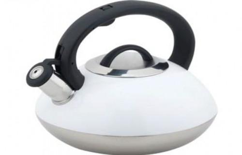 Bollitore 2,5 litri EVA acciaio inox con fischietto 013754 bianco