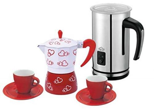 Set colazione DCG WK6299B bianco/rosso