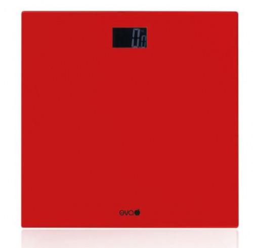 Bilancia pesapersone in vetro rosso Eva