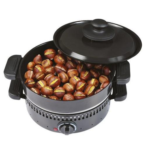 Pentola elettrica multigrill per castagne, crepes e grill Frutty