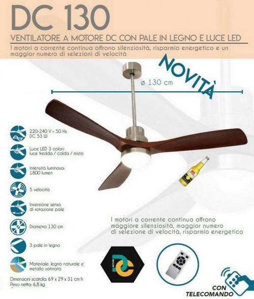 Ventilatore da soffitto CFG DC130 EV087 con motore DC